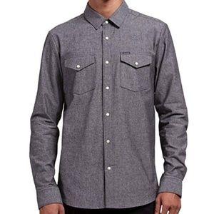Volcom Men's Hayes Long Sleeve Modern Fit Shirt L